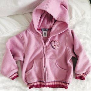 CARTERS toddler pink zip up hoodie